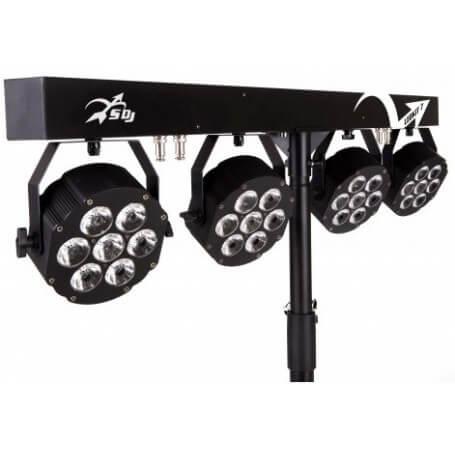 SAGITTER Led kit 4 proiettori 7x10W led RGBW/FC - vaiconlasigla; strumenti musicali; vaiconlasigla shop; vaiconlasigla s