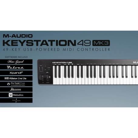 M-AUDIO Keystation 49 MK3, tastiera USB - vaiconlasigla; strumenti musicali; vaiconlasigla shop; vaiconlasigla strumenti
