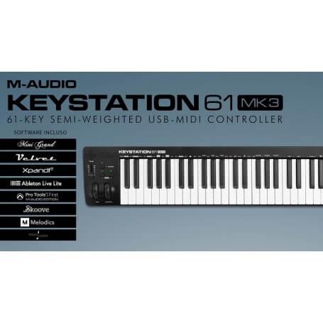 M-AUDIO Keystation 61 MK3, tastiera USB - vaiconlasigla; strumenti musicali; vaiconlasigla shop; vaiconlasigla strumenti