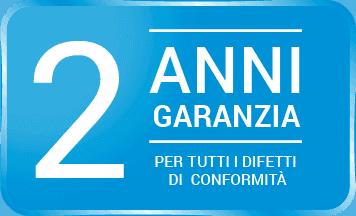 2 Anni di Garanzia